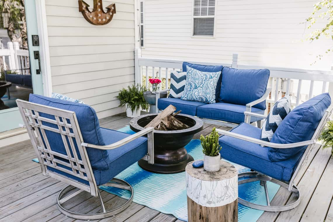 Our Beach-Inspired Deck Makeover with At Home