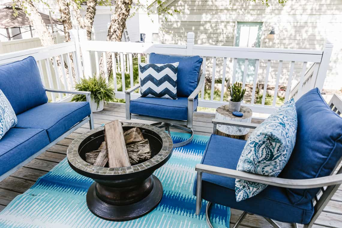 Our Beach-Inspired Deck Makeover with At Home outdoor