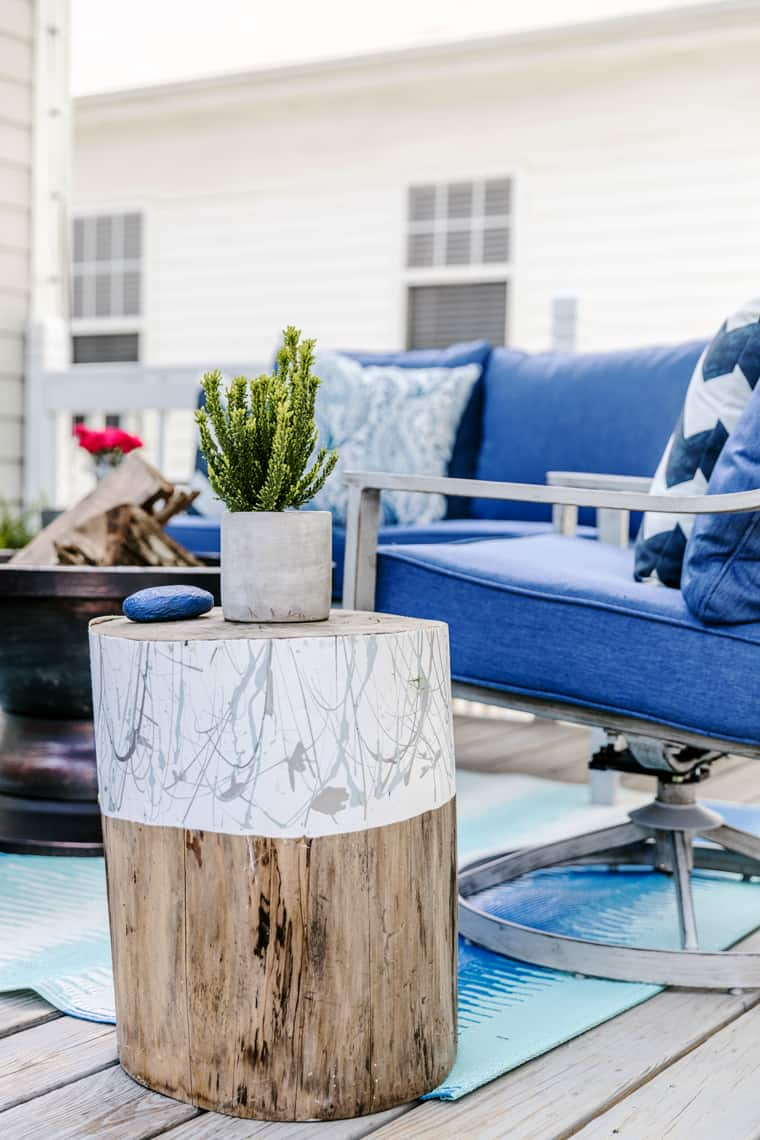Our Beach-Inspired Deck Makeover with At Home stump