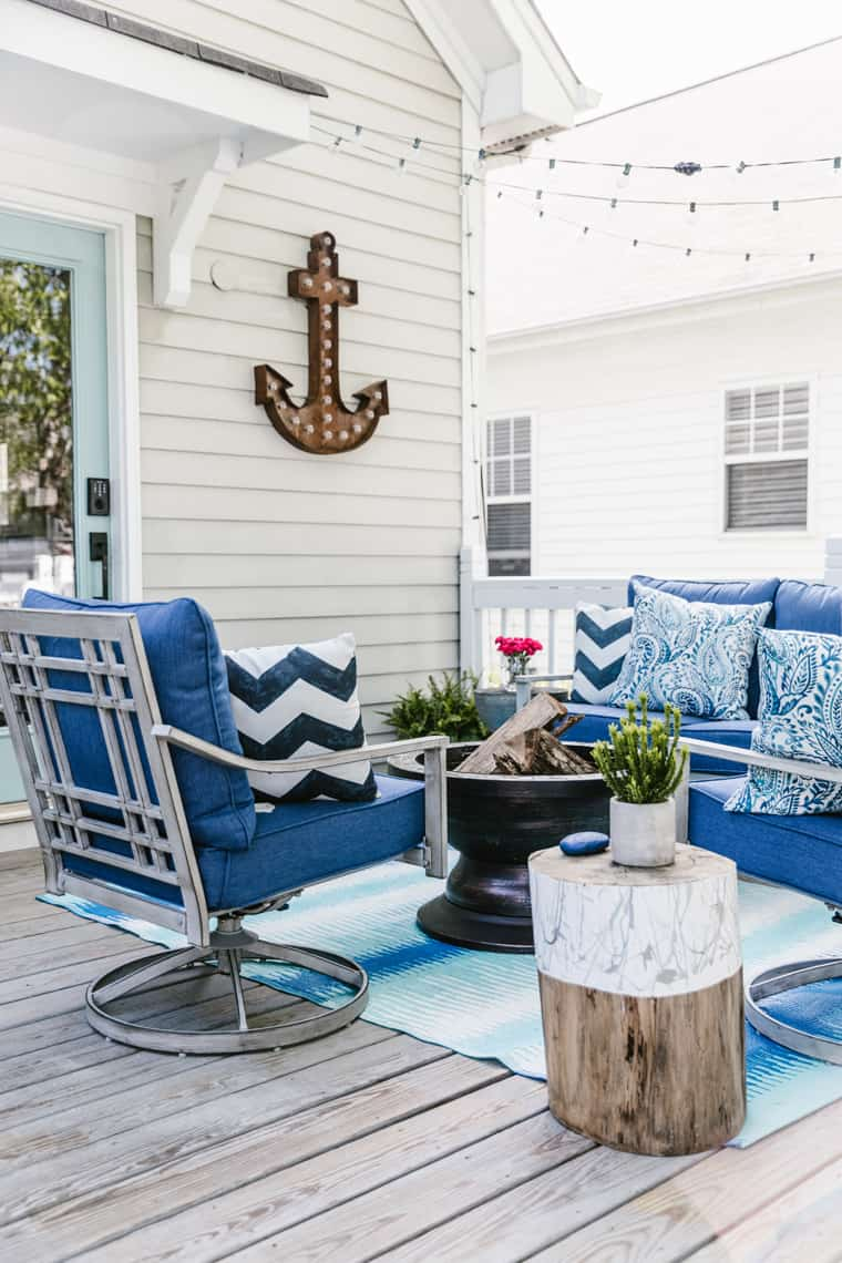 Our Beach-Inspired Deck Makeover with At Home vert