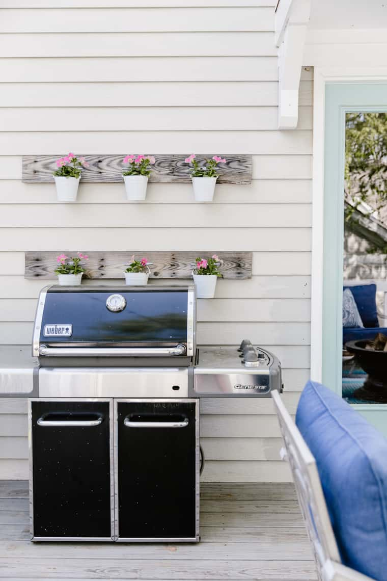 Our Beach-Inspired Deck Makeover with At Home plants
