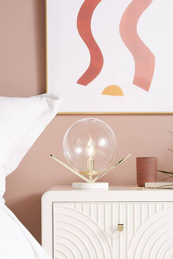 March Favorite Things + What's New Around The House lamp