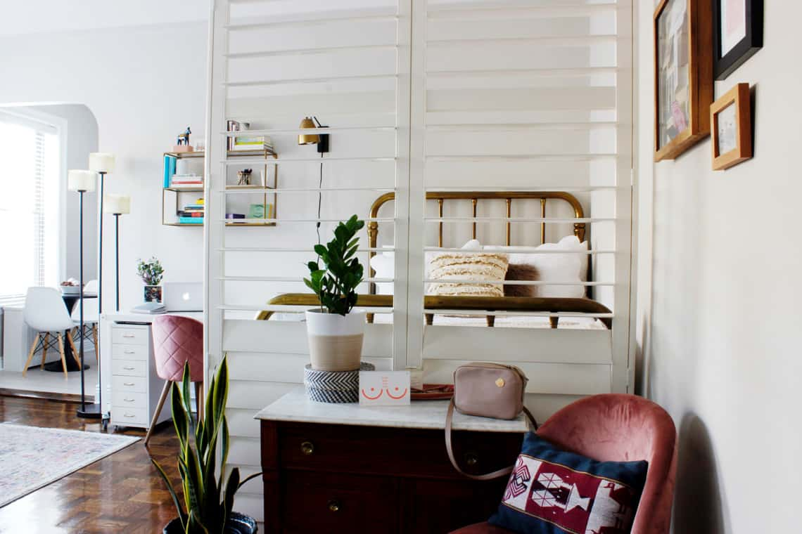 Home of the Month: Elaine's Stylish Brooklyn Studio bedroom