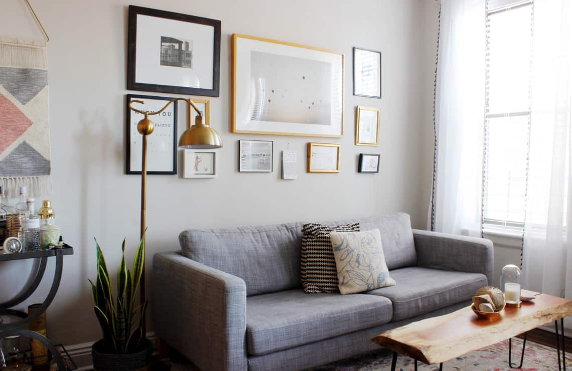 Home of the Month: Elaine's Stylish Brooklyn Studio living room