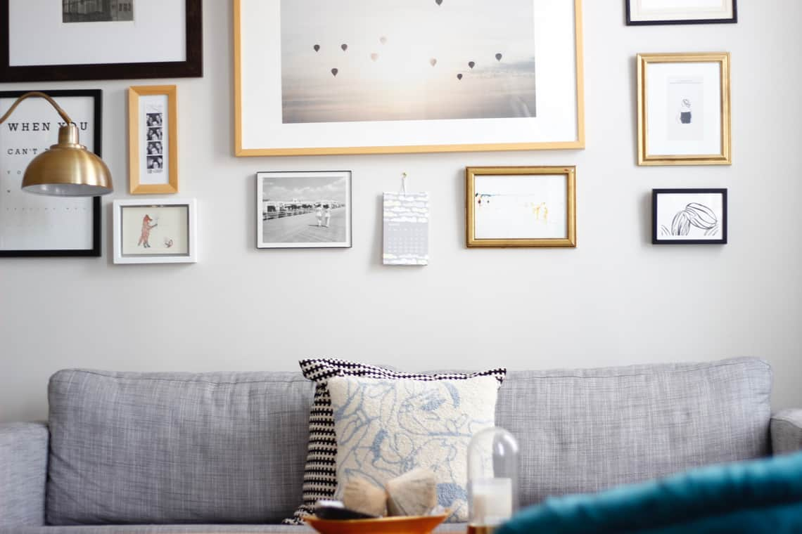 Home of the Month: Elaine's Stylish Brooklyn Studio gallery wall