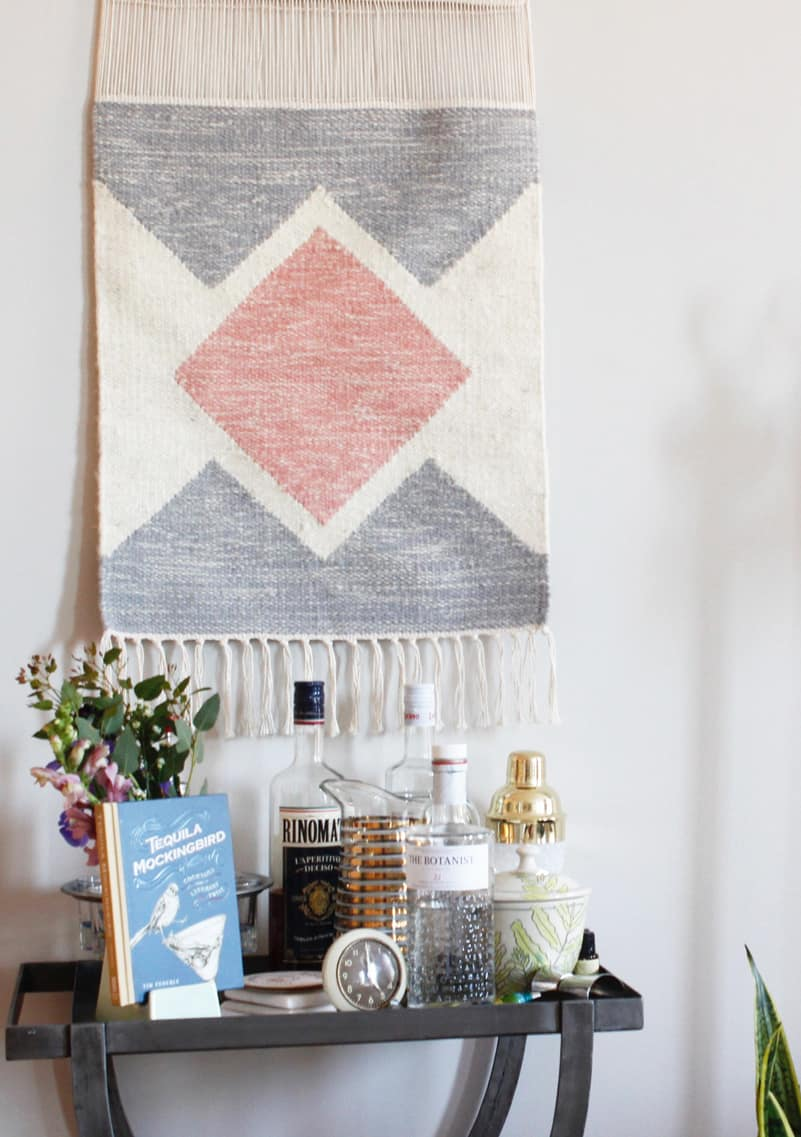 Home of the Month: Elaine's Stylish Brooklyn Studio wall hanging
