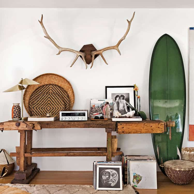 Natural Wood Elements for a California style look