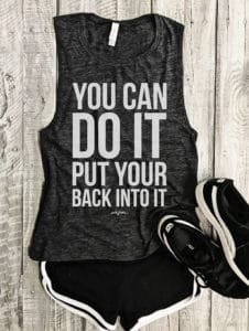 Top 5 Friday: My Favorite Graphic Gym Tees back into it