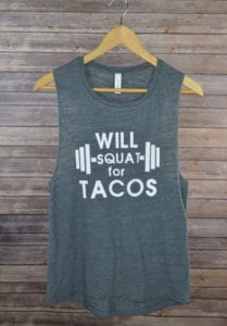 Top 5 Friday: My Favorite Graphic Gym Tees squat tacos