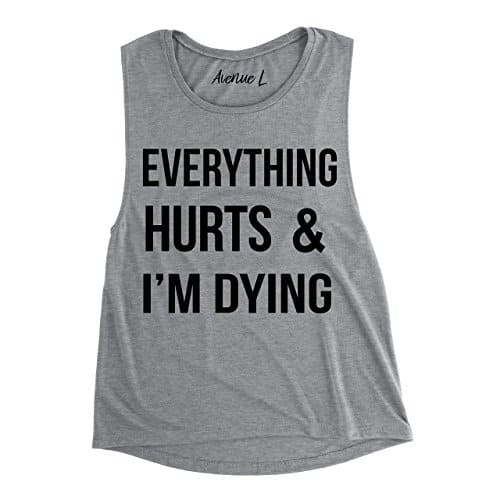 Top 5 Friday: My Favorite Graphic Gym Tees everything hurts