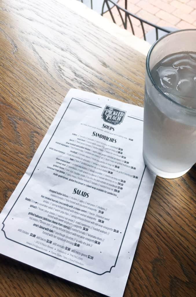 Local Spotlight: The Pickled Peach Davidson NC menu