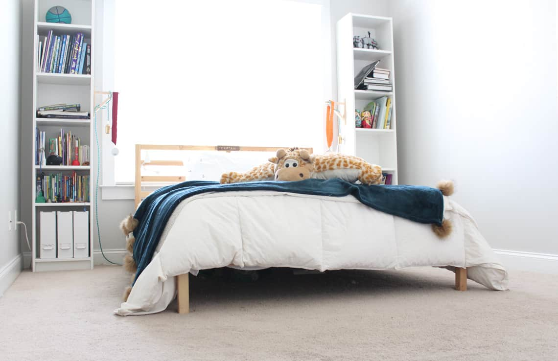Bigg(er) Boy Room Makeover with Carpet One: The Before carpet