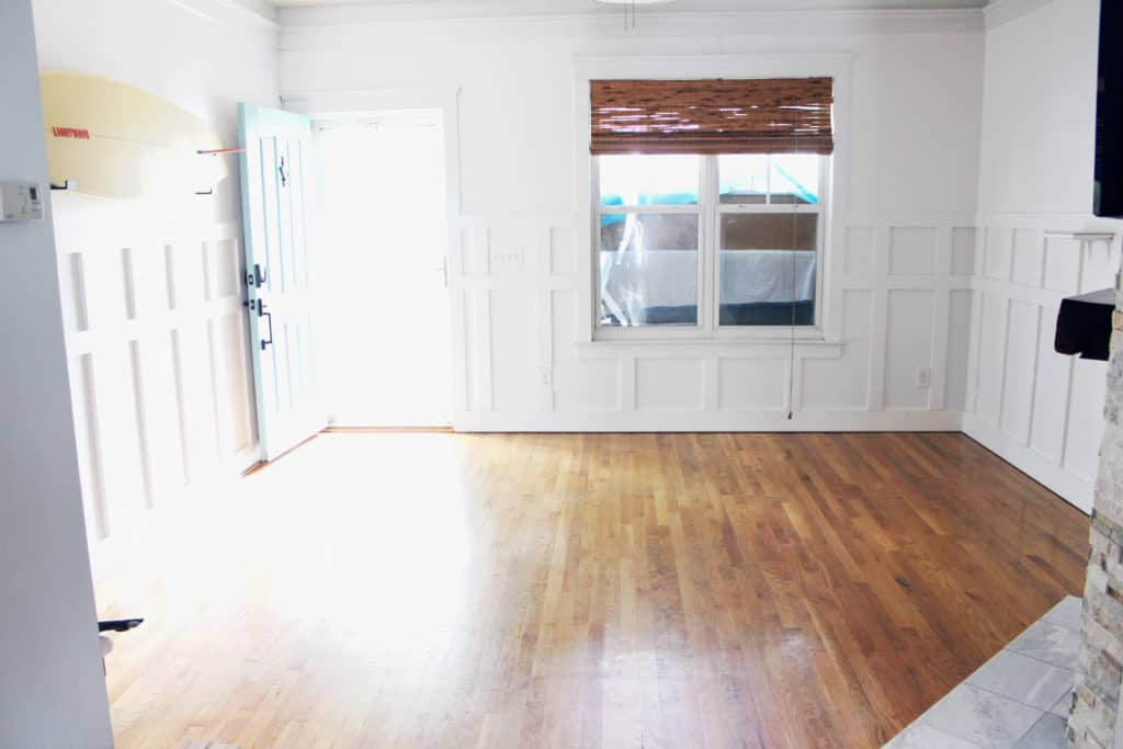 Before + After: New & Refinished Hardwood Floors living room
