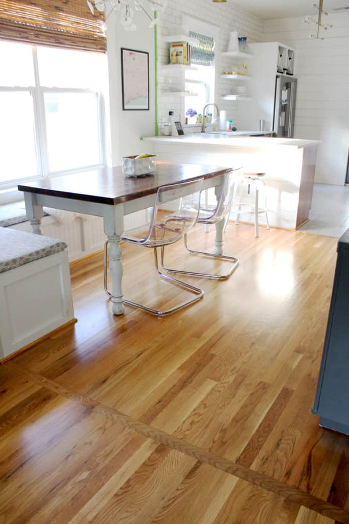 Before + After: New & Refinished Hardwood Floors after open plan