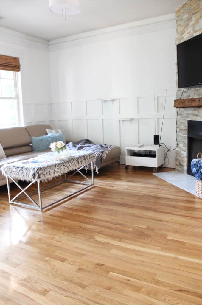 Before + After: New & Refinished Hardwood Floors after living