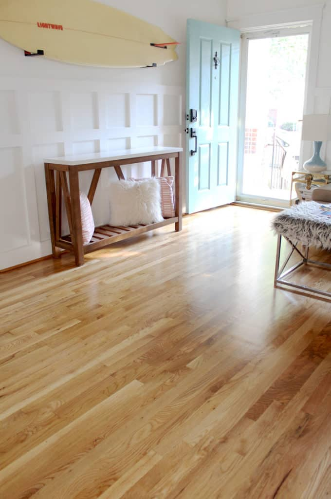 Before + After: New & Refinished Hardwood Floors after entry