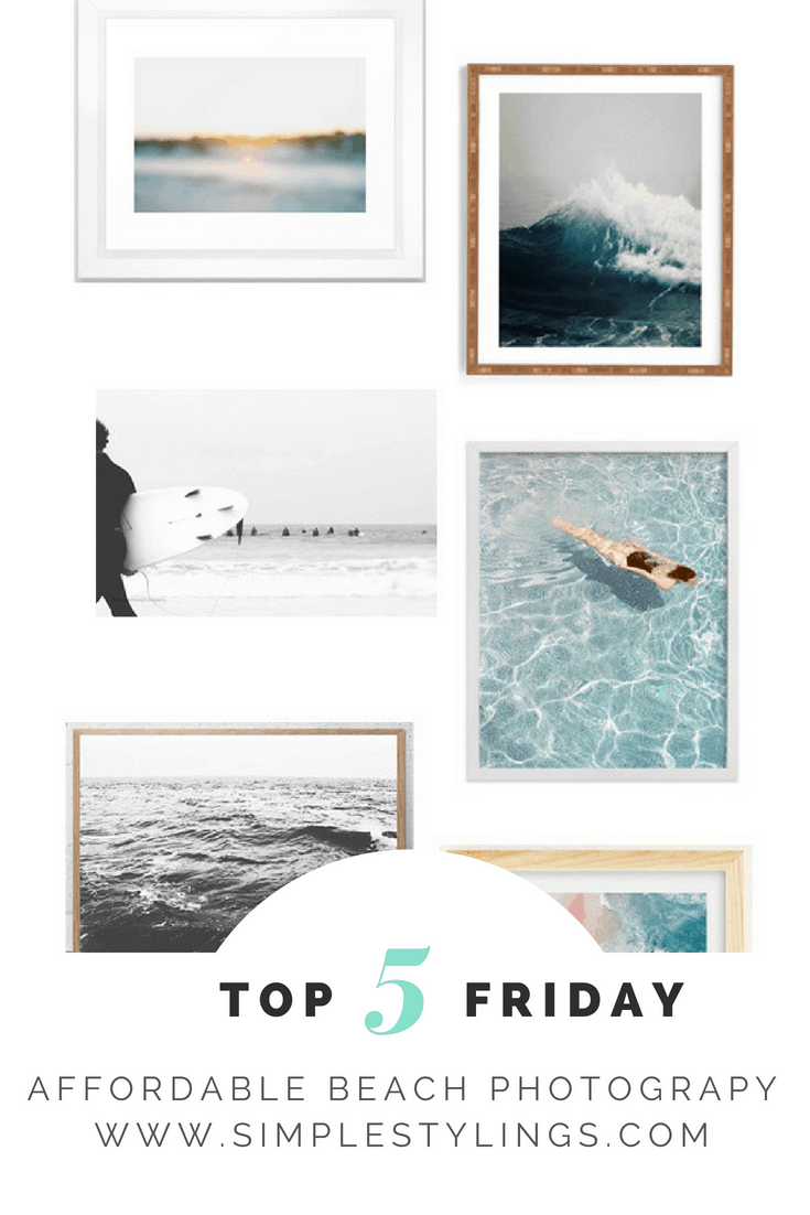 Top 5 Friday: Favorite Affordable Beach Photography Prints