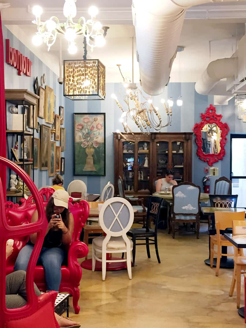 Local Spotlight: Amelie's French Bakery, Charlotte NC chandelier