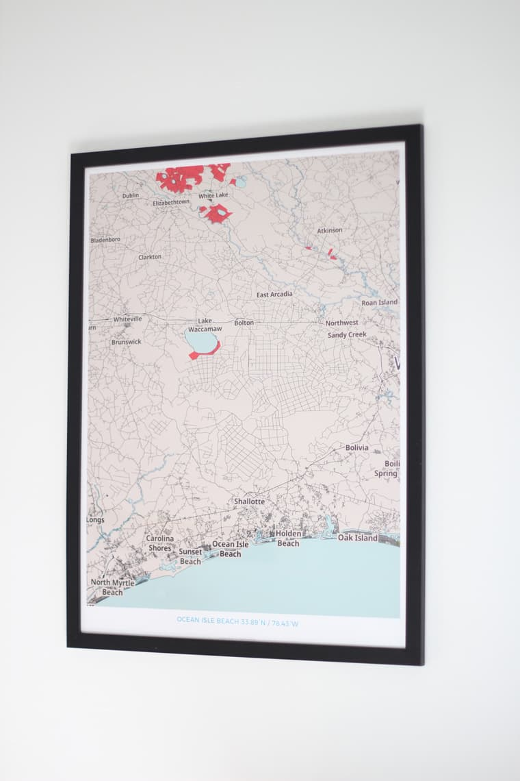 Dining Room Updates + A Refinished Table map