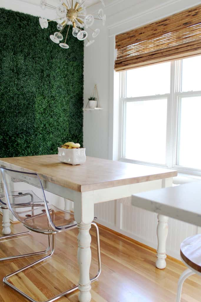 How To Refinish A Natural Wood Dining Room Tabletop final styled