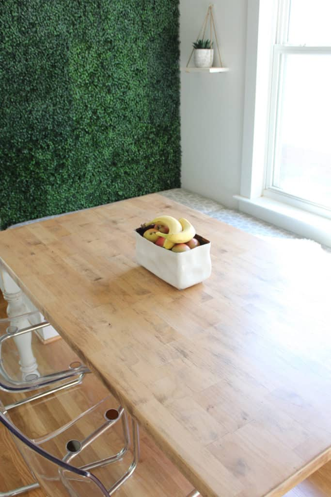 How To Refinish A Natural Wood Dining Room Tabletop styled