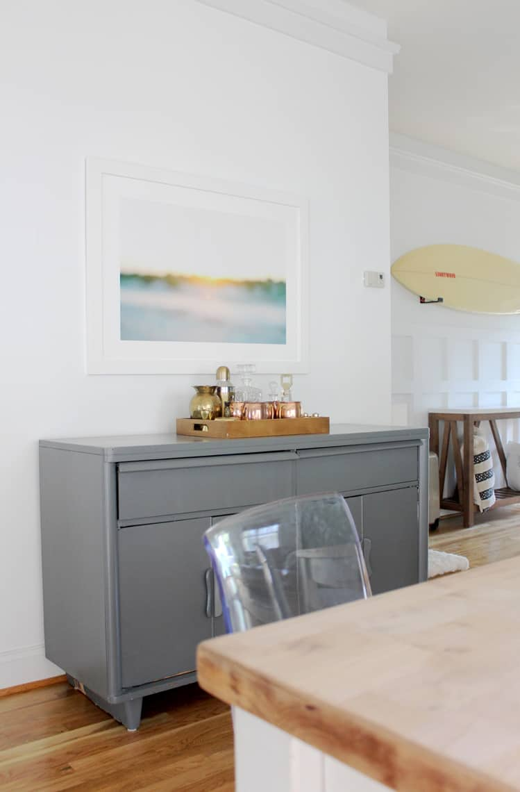 Dining Room Updates + A Refinished Table buffet