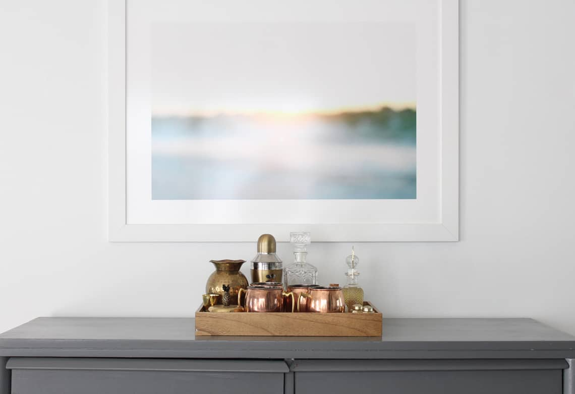 Dining Room Updates + A Refinished Table ocean print