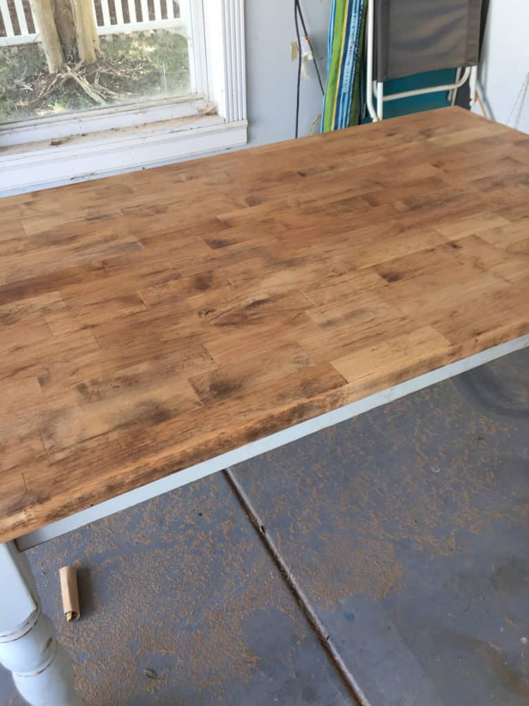 How To Refinish A Natural Wood Dining Room Tabletop top coat
