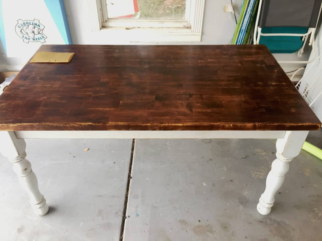 How To Refinish A Natural Wood Dining Room Tabletop before