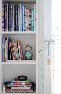 Bigg(er) Boy Room Makeover with Carpet One: The Reveal shelves