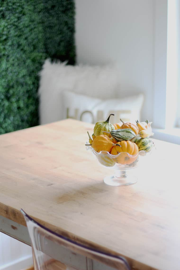 A Simple Fall Home Tour 2018 table