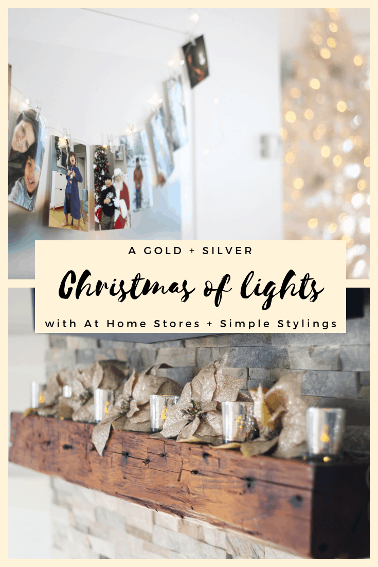 A Gold + Silver Christmas of Lights with At Home pin