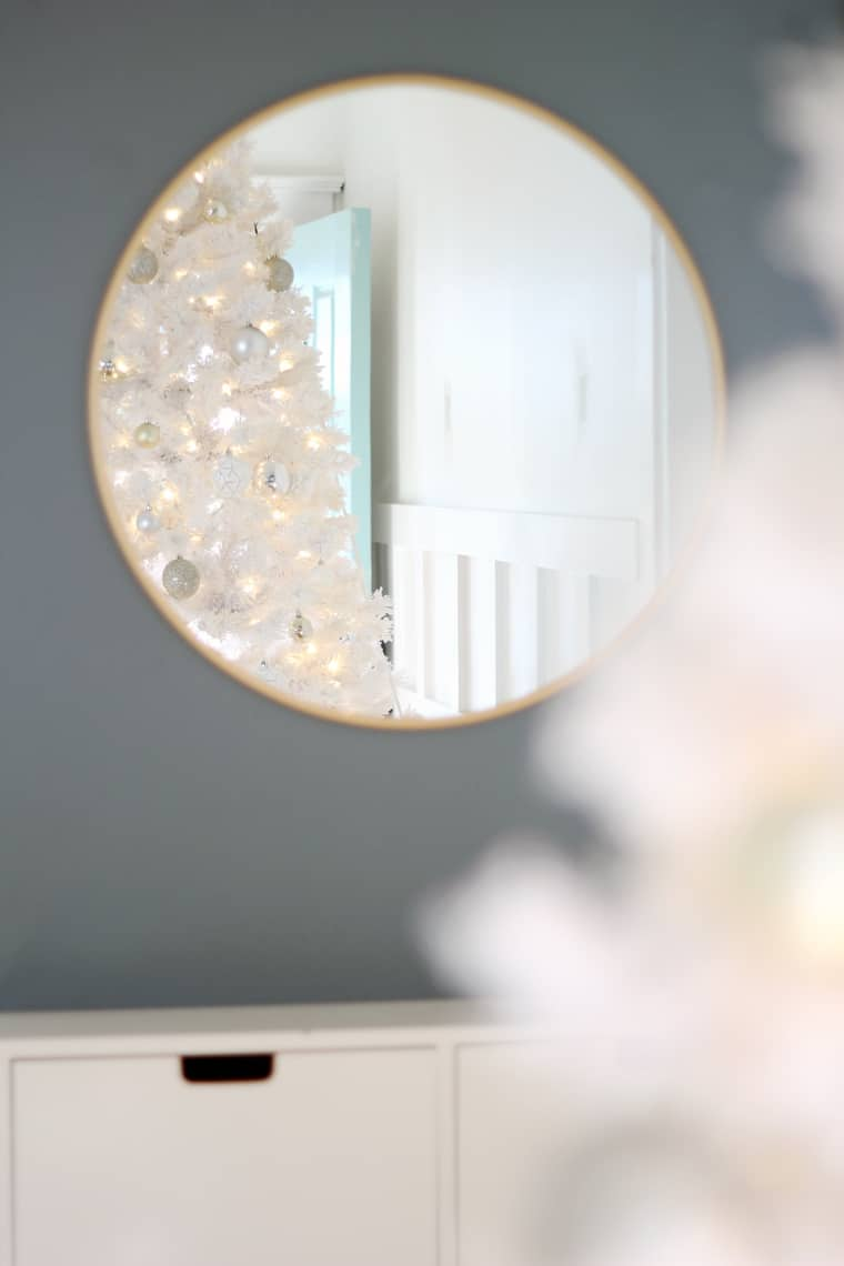 A Gold + Silver Christmas of Lights with At Home reflection