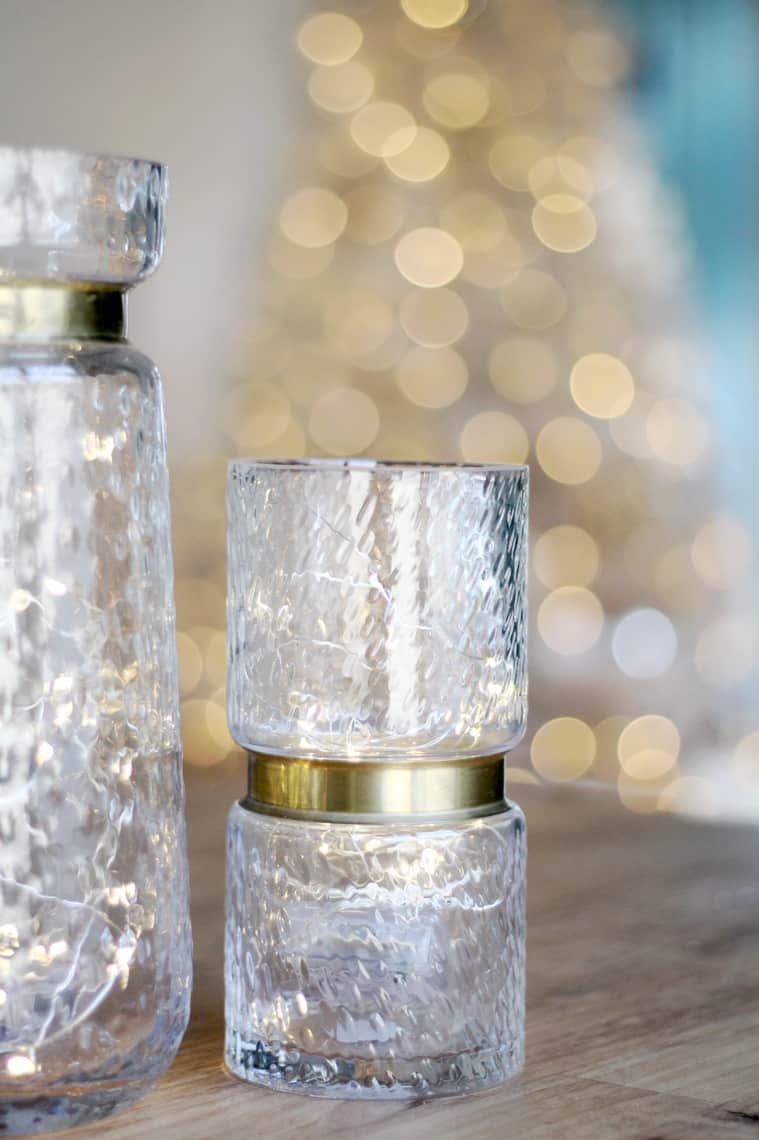 A Gold + Silver Christmas of Lights with At Home vases