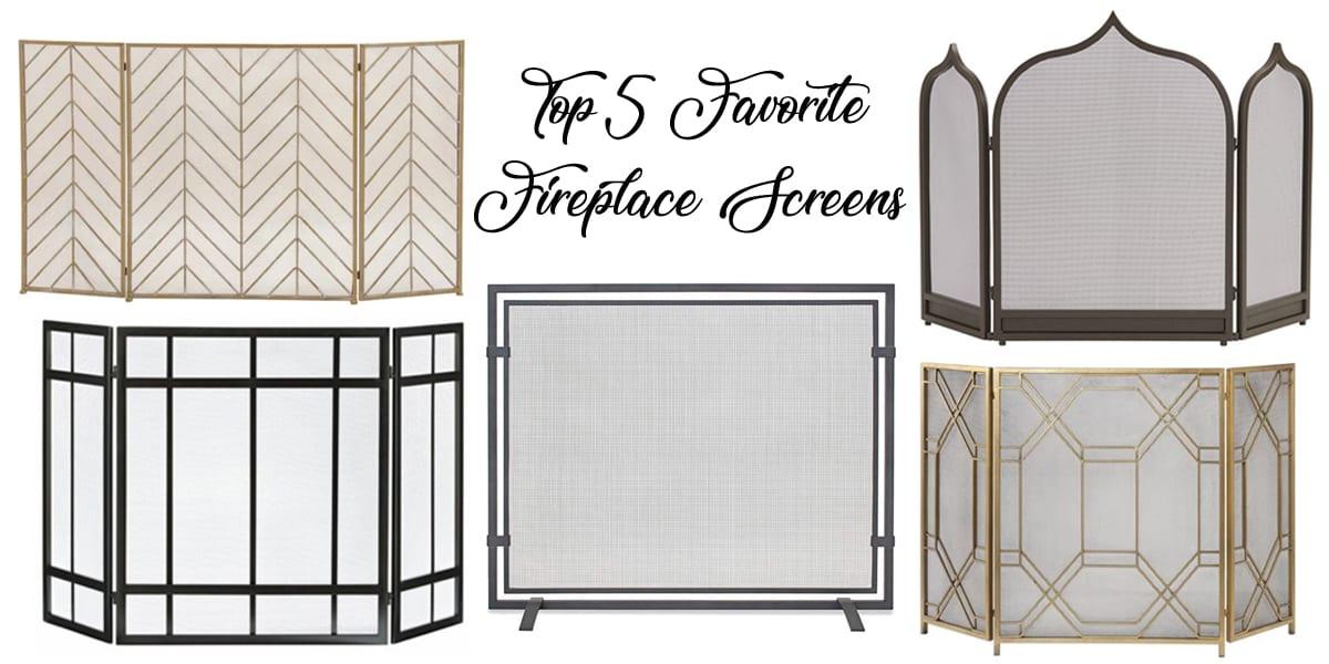 Top 5 Friday: Favorite Modern Fireplace Screens Under $300