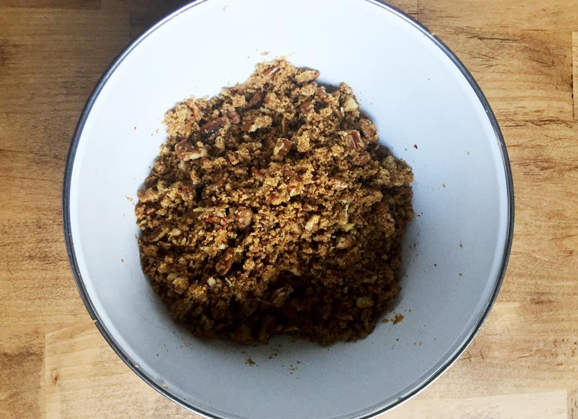 A Healthier Sweet Potato Casserole Recipe (Gluten Free) topping