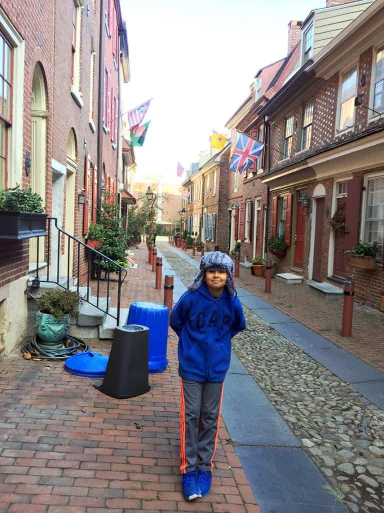 Roadtrip Reality: Fifth Grade Tour of Philadelphia, PA cobblestone