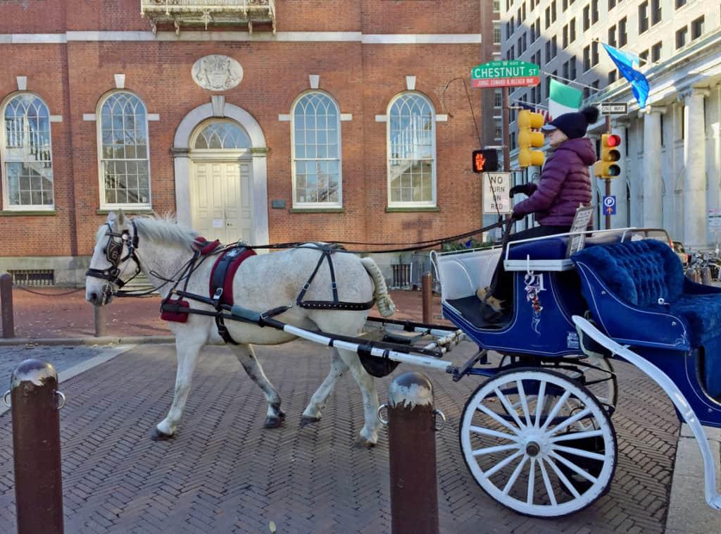 Roadtrip Reality: Fifth Grade Tour of Philadelphia, PA house and buggy