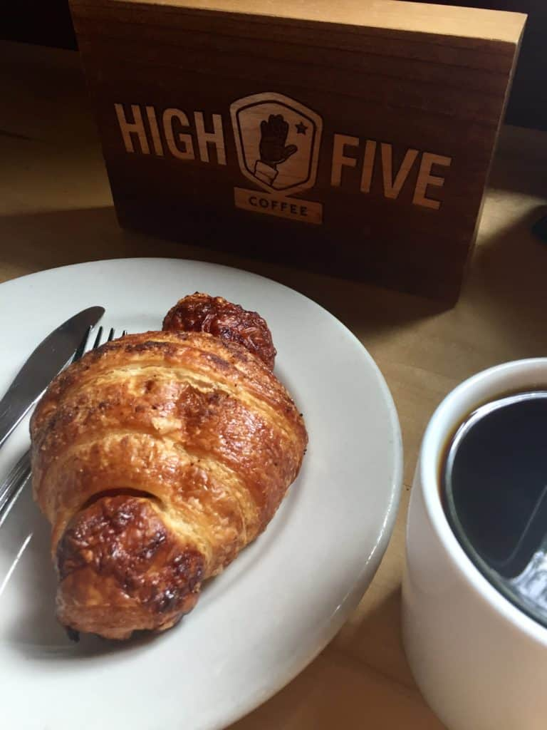 asheville high five coffee