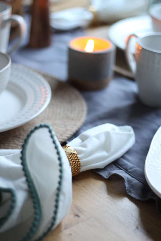 At Home Fall Tablescape texture