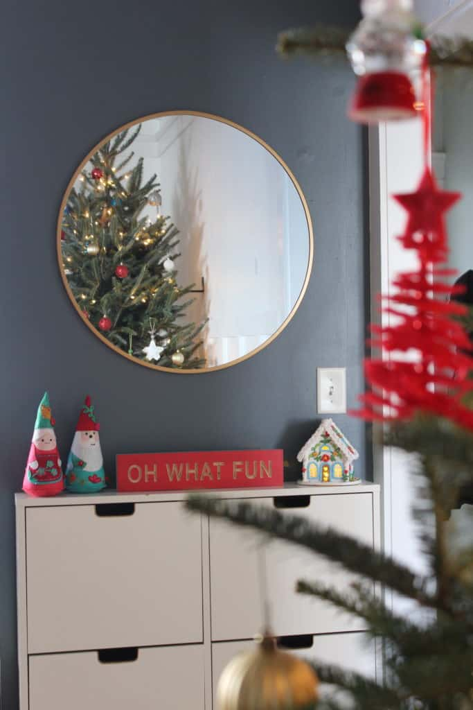 Festive Christmas entry way