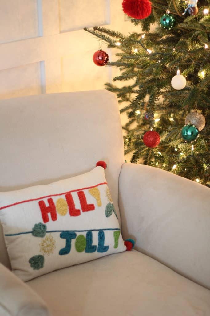 Our 2019 Festive Christmas Living Room holly jolly