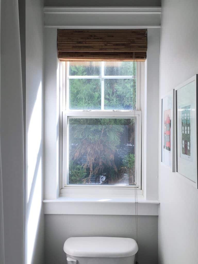 Our Updated Tiny Downstairs Bathroom window