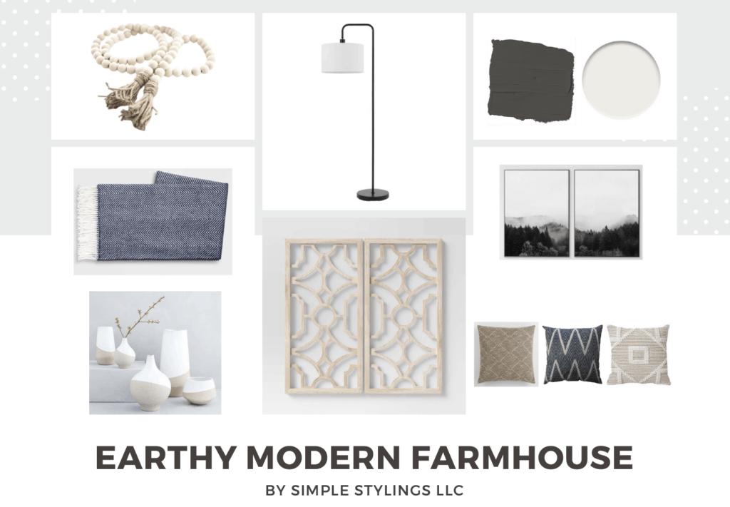 Earthy Modern Farmhouse Design Accessories