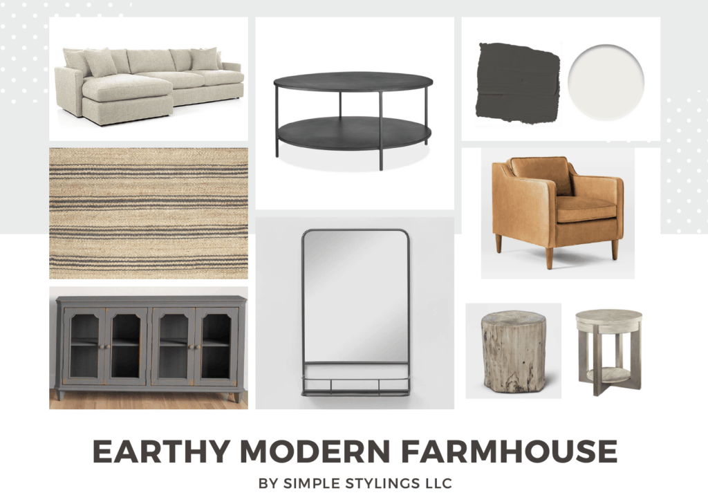 Earthy Modern Farmhouse Design #1