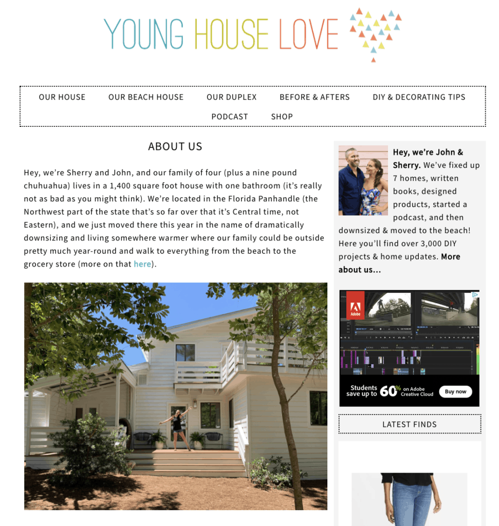 My Blogging Story young house love