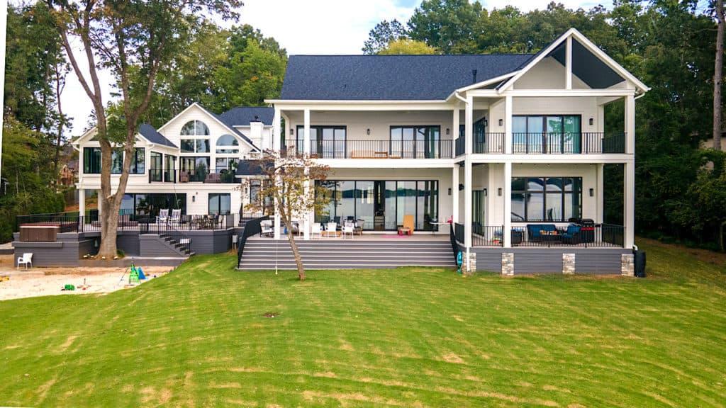 Lake House exterior rear