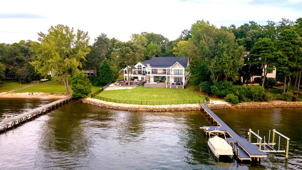 Home of the Month: A Laid Back Lake House drone