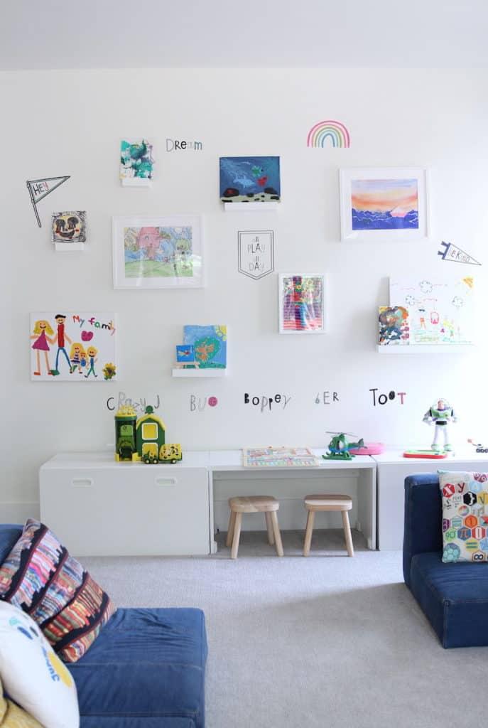 Lake House art wall