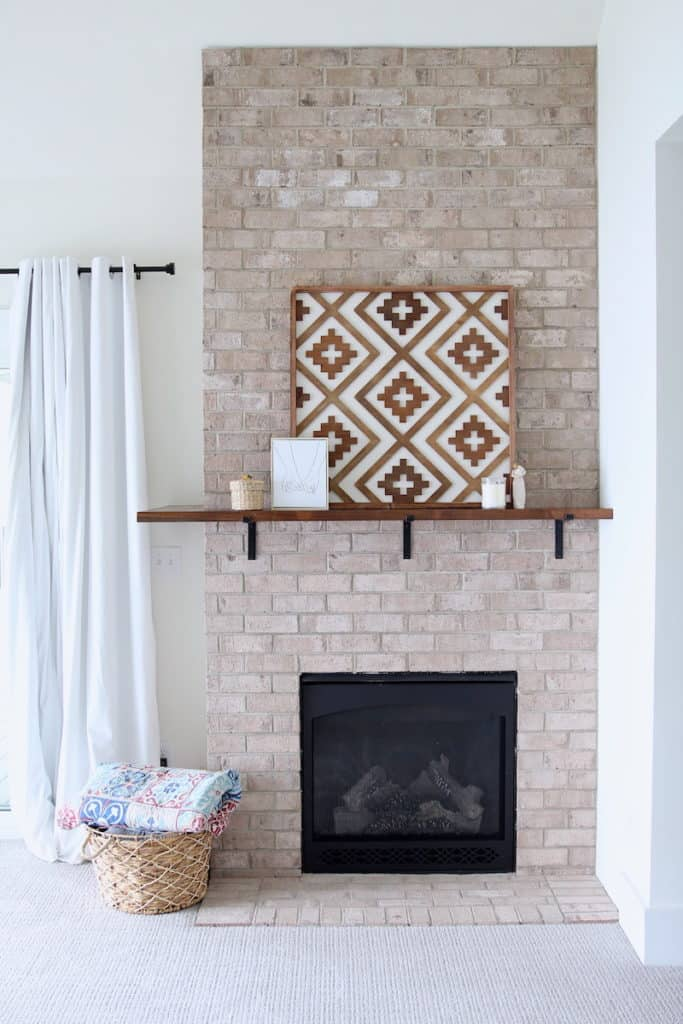 Home of the Month: A Laid Back Lake House master bedroom fireplace